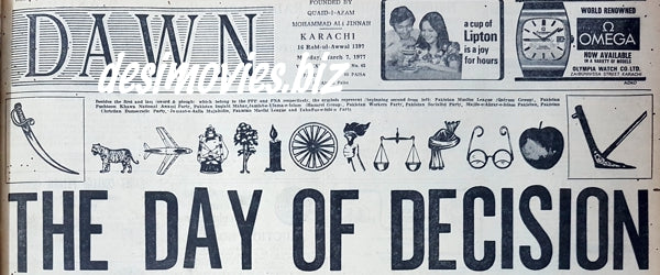 Day of Decision 1977 - Election Day Headline