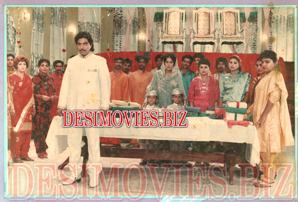 Tes Mar Khan (1989) Lollywood Lobby Card Still 3