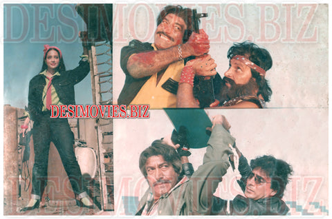Choron Ka Badshah (1988) Lollywood Lobby Card Still 3