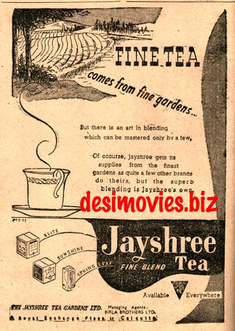 Jayshree Tea (1947) Press Advert 1947