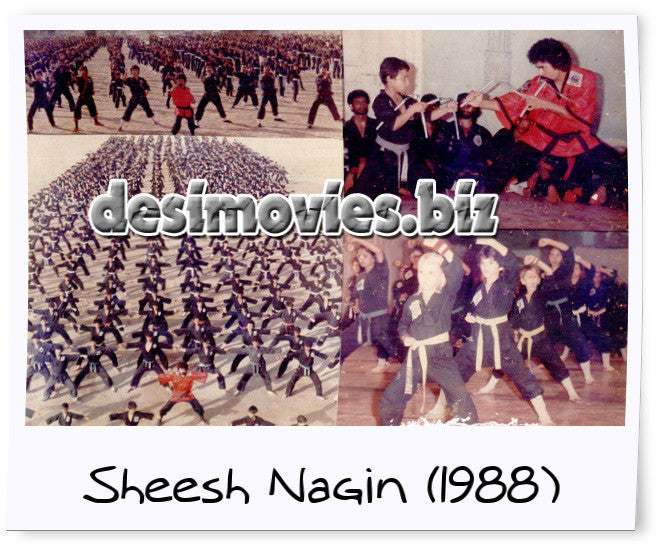 Sheesh Nagin (1988) Lollywood Lobby Card Still-1