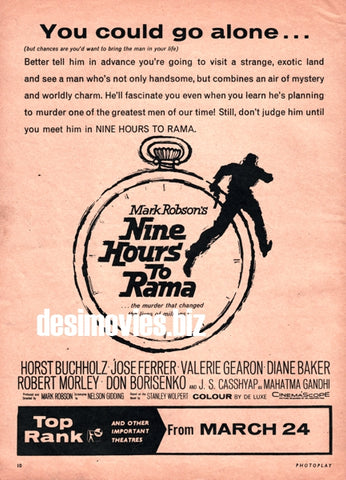 Nine Hours to Rama (1963) Press Advert