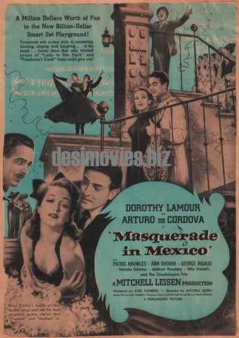Masquerade in Mexico (1945) Press Advert