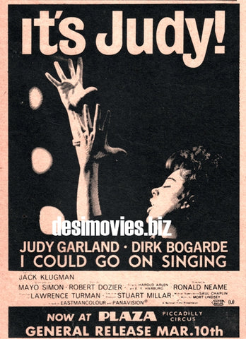 It's Judy! (1963) Press Advert