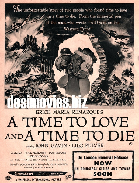 A Time to Live and a Time To Die (1958) Press Advert