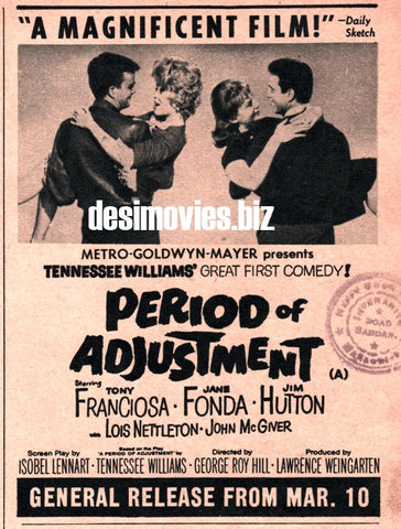 Period of Adjustment (1962) Press Advert