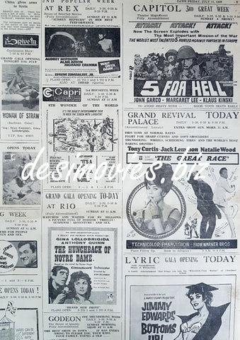 Cinema Press Adverts (1969)
