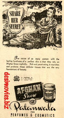 Afghan Snow (1947) Press Advert 1947