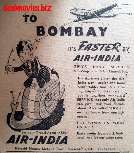 Air India (1949) Press Advert 1949