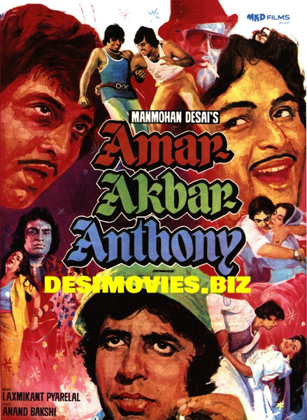 Amar Akbar Anthony (1977) Original Poster