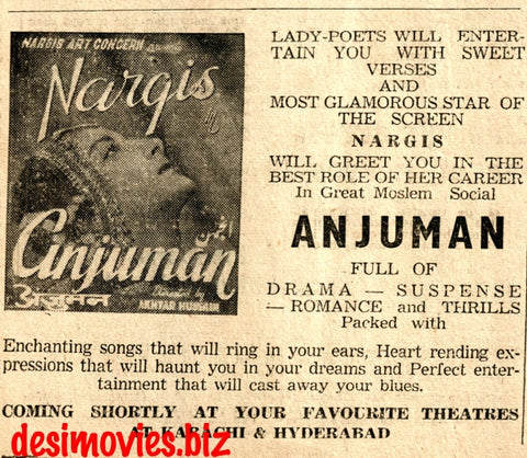 Anjuman (1948) Press Advert