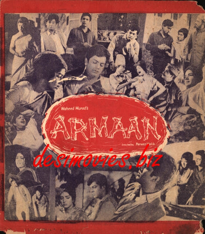 Armaan (1966) Lollywood Original Booklet