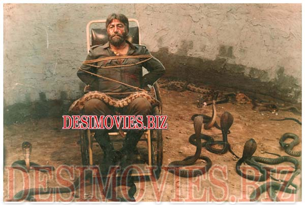 Badshah (1989) Lollywood Lobby Card Still 1