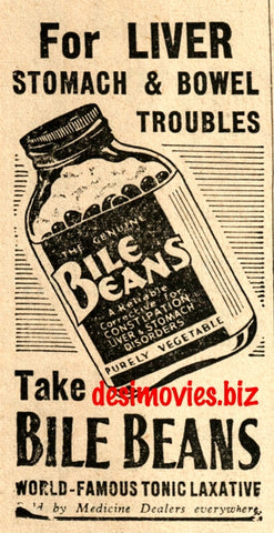 Bile Beans (1947) Press Advert 1947