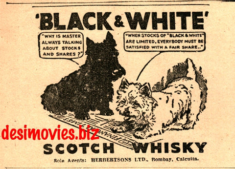 Black & White Whiskey (1947) Press Advert 1947