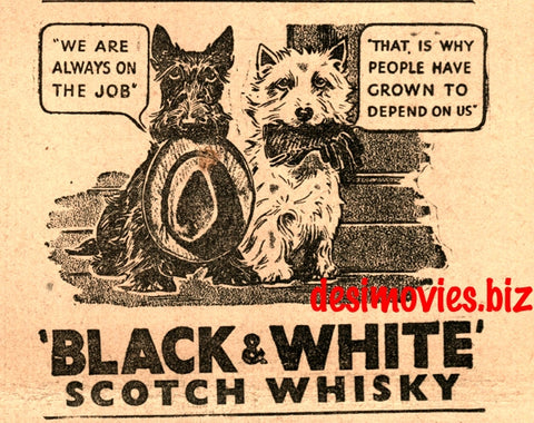 Black & White Whiskey (1947) Press Advert 1947 -1