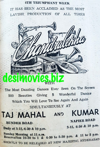 Chandralekha (1948) Press Advert