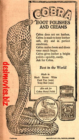 Cobra Polish (1927) Press Advert 1927