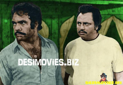 Colourised Lobby Card - Sultan Rahi & Aslam Parvez - 70's