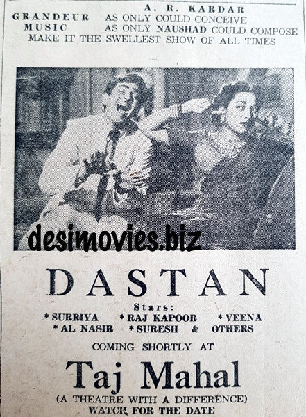Dastan (1950) Press Ad