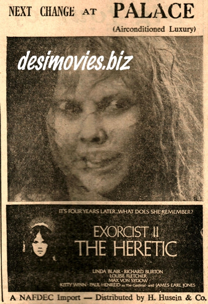 Exorcist 2: The Heretic (1978) Press Advert (1979)