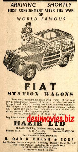 Fiat Station Wagon (1947) Press Advert 1947