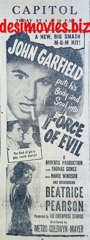 Force of Evil, The (1948) Press Advert