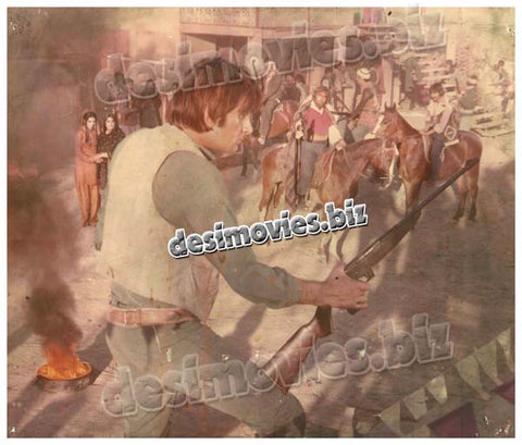 Gehrey Zakham (1980)  Lollywood Lobby Card Still 1