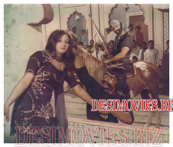 Ghabbar Singh (unreleased urdu film) (1980) Lollywood Lobby Card Still 1