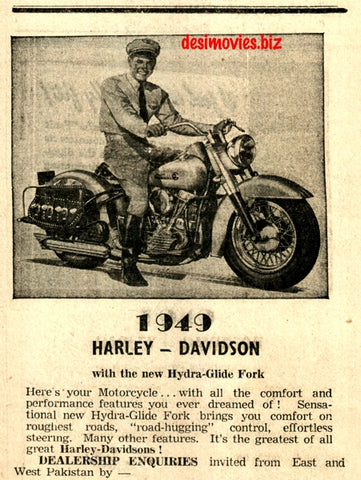 Harley Davidson (1947) Press Advert 1947