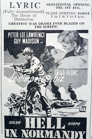 Hell in Normandy (1968) Press Ad