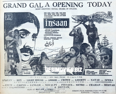 Insaan (1977) Press Advert - Karachi 1977