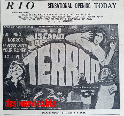 Island of Terror, The (1966) Press Ad - Karachi 1967