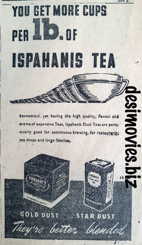 Ispahani Tea (1947) Press Advert 1947