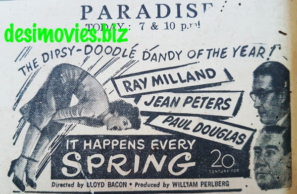 It Happens Every Spring (1949) Press Ad