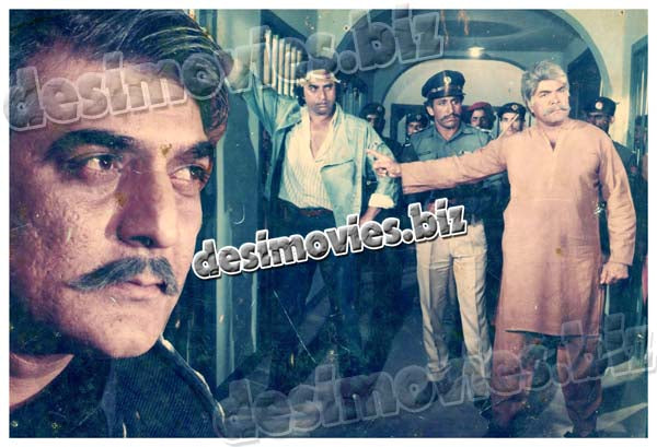 Jangbaz (1990)  Lollywood Lobby Card Still 3