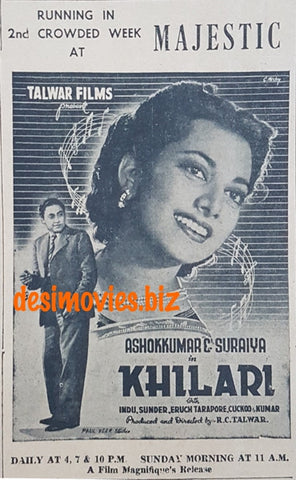 Khilari (1945) Press Ad