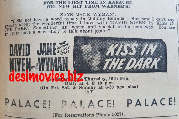 Kiss in the Dark, A  (1949) Press Ad