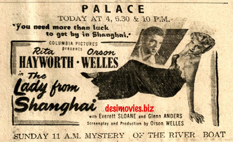 Lady From Shanghai, The (1948) Press Advert