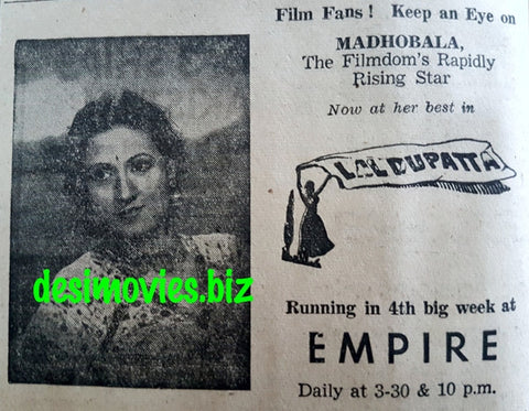 Lal Dupatta (1948) Press Advert A