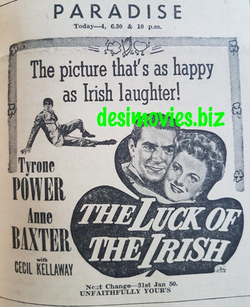 Luck of the Irish, The (1948) Press Advert