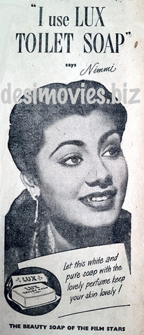 Nimmi - Lux Soap Advert (1951) Karachi