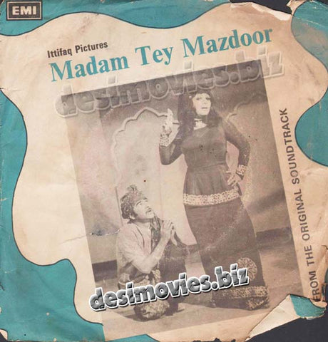 Madam tey Mazdoor (1970+Unreleased) - 45 Cover