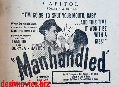 Manhandled (1949) Press Advert