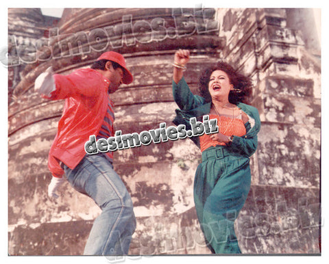 Manila Ke Janbaaz (1989)  Lollywood Lobby Card Still 19