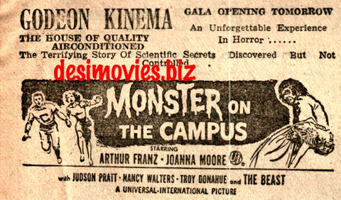 Monster on the Campus (1958) Press Advert 1960