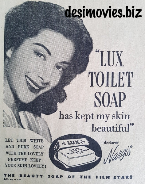 Nargis - Lux Soap Advert (1951) Karachi