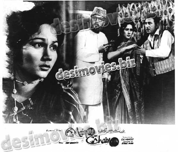 Nain Mily Chain Kahan+unreleased (1965) Lollywood Lobby Card Still 7