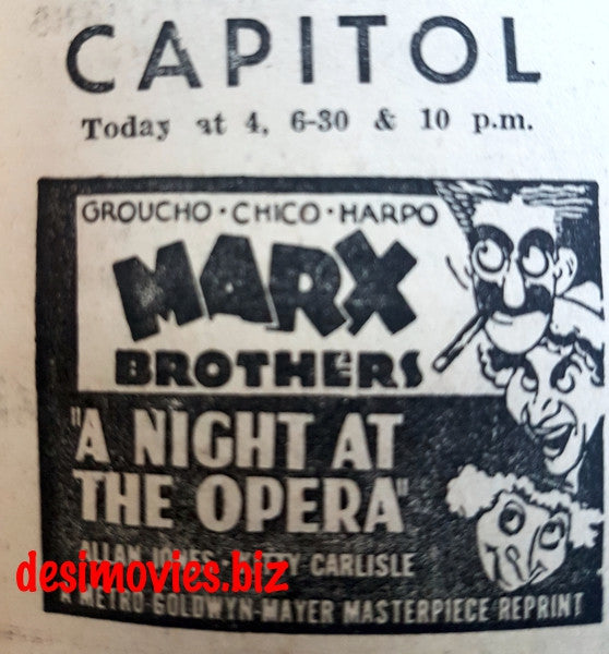 A Night at The Opera  (1935) Press Ad
