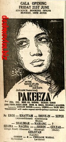 Pakeeza (1968) Press Advert